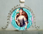 Marie Antoinette Art Pendant | French Queen Pendant Necklace | Teacher Gift Ideas | No. 3009