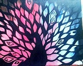 The Proud Peacock OOAK Abstract Painting