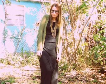 SALE Sleeveless Black Slinky Maxi Dress Small