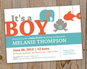 Baby shower invitation, Print Your Own - by gelDesign