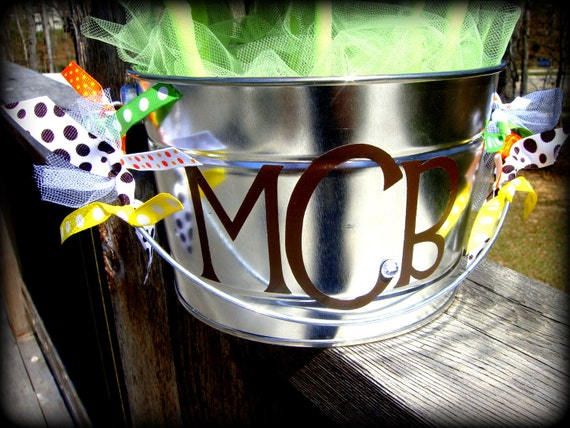 Monogram Bucket for Bow Bouquets