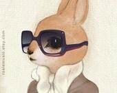Honey Bunny 11x17 LARGE Print