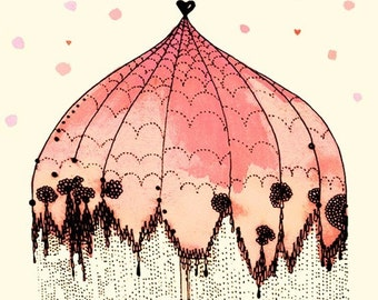 Umbrella - Peach 8x10