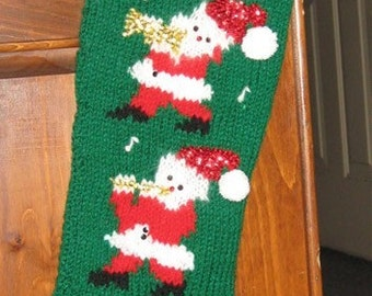 Knitted Personalized Santa Band Christmas Stocking