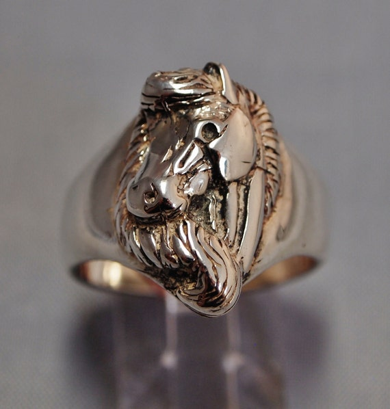 Horse Head Ring Sterling Silver