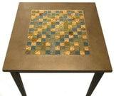 Tile Side Table - Glass Tile End Table