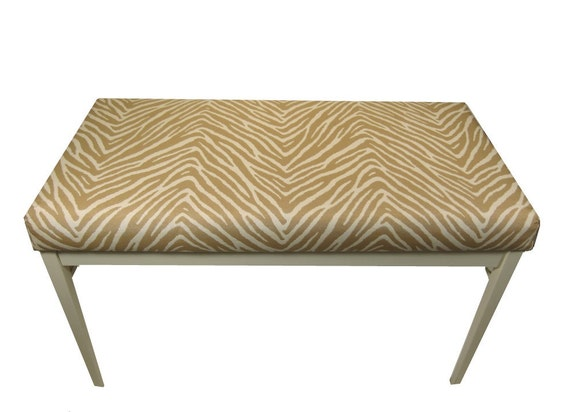Items Similar To Upholstered Bench Animal Print Fabric Modern Indoor Bench On Etsy