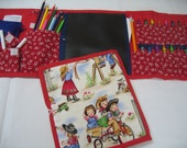 40% OFF Cowgirl Art Tote complete with chalkboard, chalk, eraser, paper pad, pencil, crayons, and colored pencils