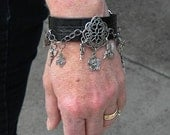 Leather Charm Cuff