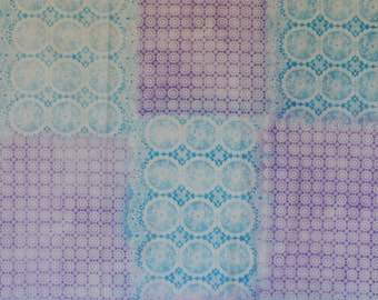 Airbrushed 1yd purple/turquoise pattern - 441