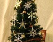 Pick any THREE- Steampunk Clock Hand Holiday Ornament Set