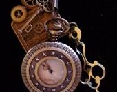 Gentleman Officer Embellished Steampunk Pocket Watch