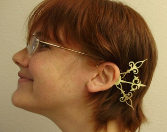 GOLD Steam Fae Clockwork Wings Moth Fairy- Over The Ear Cuff Set Steampunk Accessory