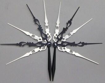 Star Spikes Monochrome Hair Pick Set Steampunk Accessory