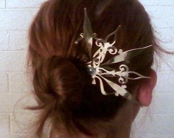 Castilian Beauty Hair Pick Steampunk Accessory- Choose: Black, Gold, Mixed Colors