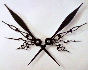 Filigree Wings Noir Hair Pick Set Steampunk Accessory