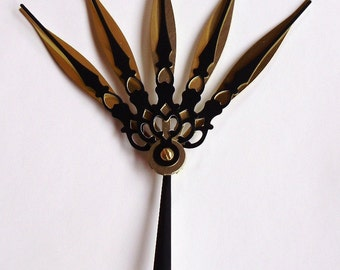 Majesty Hair Pick Steampunk Accessory- Royale (Gold and Black)