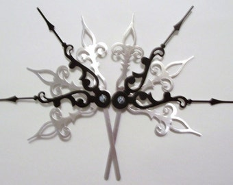 DONATION PIECE- Sunburst Monochrome Hair Pick Set Steampunk Accessory