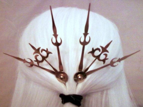 Trident Hair Pick Set Steampunk Accessory