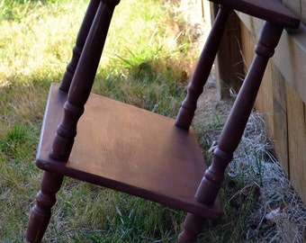 Shabby chic rustic end table