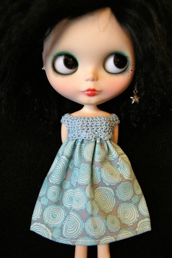 Blythe Rag Bag Designs Tree Swirls Dress