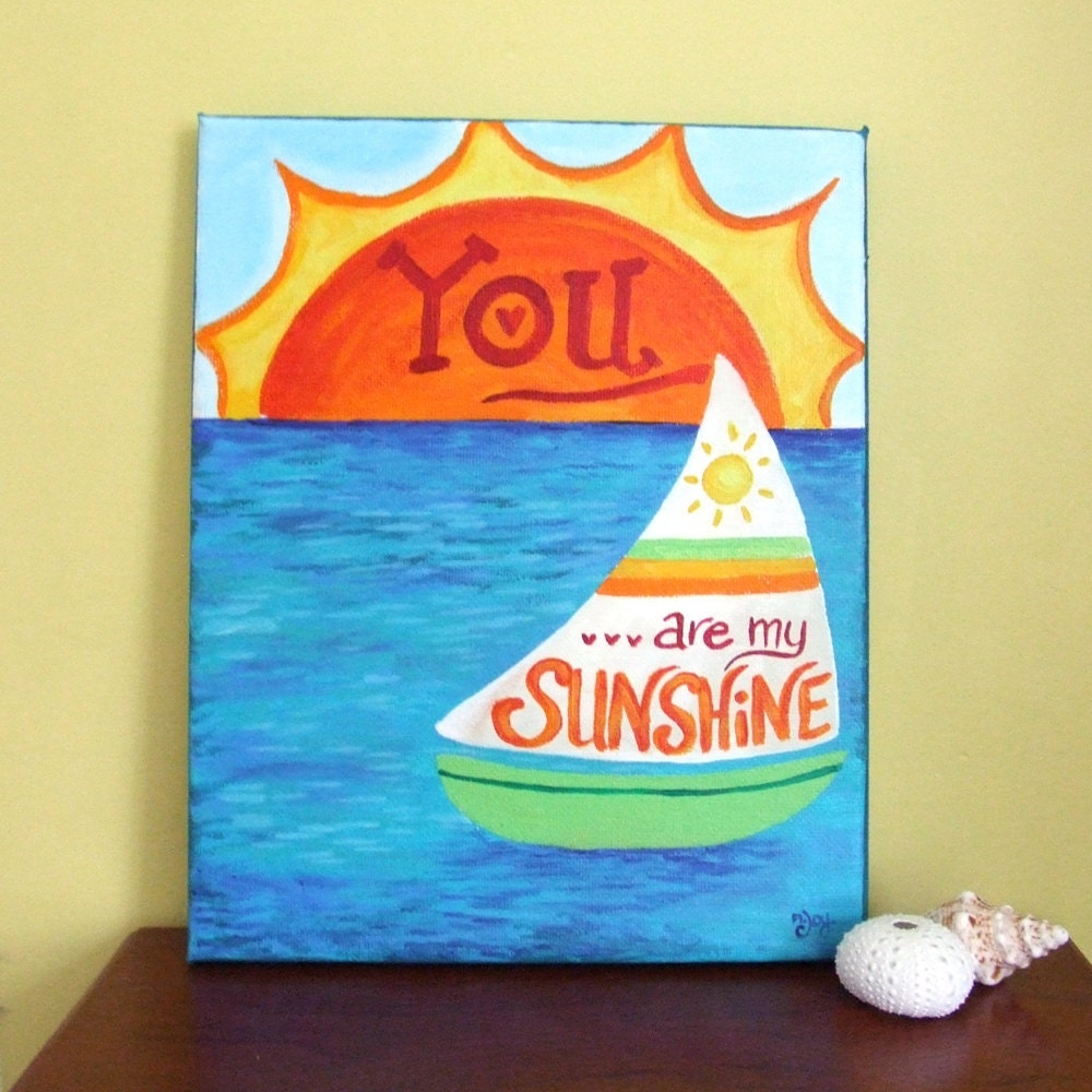 Art For Kids You Are My Sunshine 8x10 Original Painting