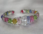 Spring Bling!    -Bright Multicolored Cuff Bracelet