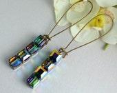 Northern Lights - Vitrail Swarovski Crystal Cube Earrings