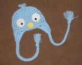 Baby Bluebird Earflap Hat -- Custom Made to Order Photography Prop