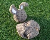 Bunny Beanie & Diaper Cover -- Custom Made to Order