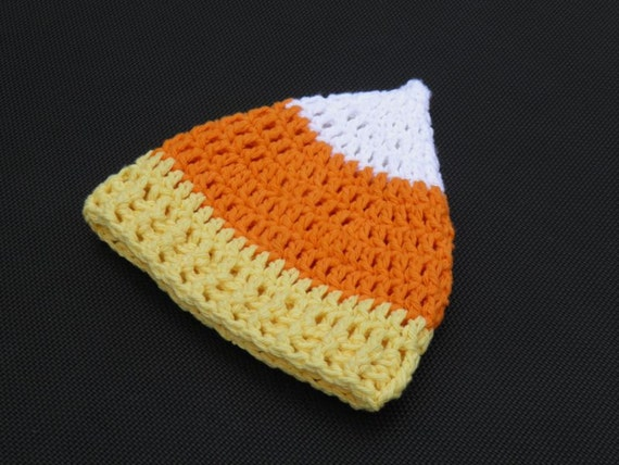 Candy Corn Beanie -- ANY SIZE -- Custom Cotton Made to Order