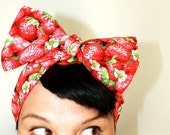 Reserved for Sam Retro hair tie Good enough to eat Strawberries