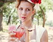 Victorian Bridal Mini Top Hat