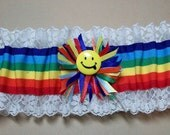 Rainbow, Smiley Face Garter