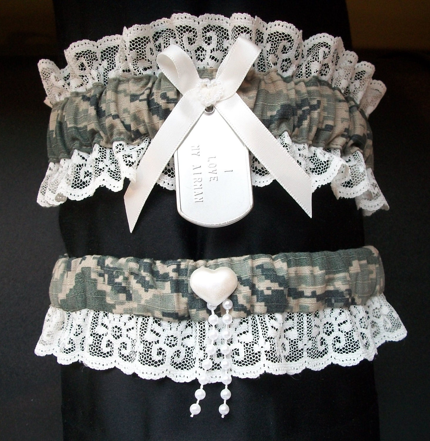 A Surprise Arch For The Bride Coast Guard Wedding By: Air Force Digital Camo Garter Set With By CreativeGarters