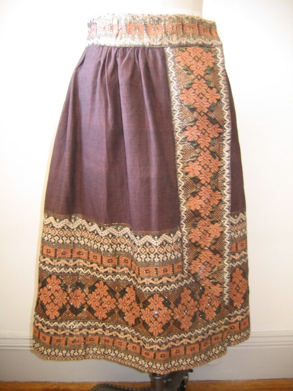 Vintage s boho mexican embroidered peasant by sweetrocket