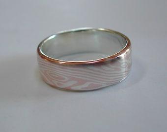 Mokume Gane Ring in sterling/copper