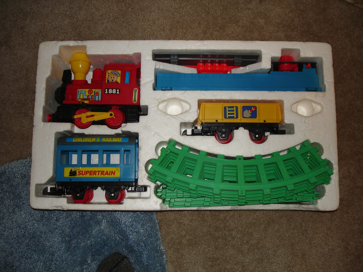 Battery operated toy train set value