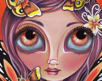 "ART PRINT ""Io Moth Fairy"" by Jaz Higgins"