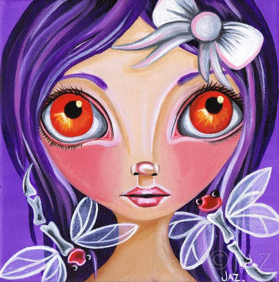 "ART PRINT ""My Little Dragonflies"" by Jaz Higgins - A whimsical wall poster print perfect for a girls room. Signed and dated by the artist!"