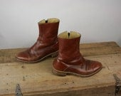Vintage Boots Mens Campus Ankle Leather Mahogany