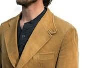 Vintage Mens Suit Coat Jacket Camel Corduroy