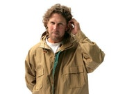 Vintage Mens Rain Jacket Coat Woolrich Camel Tan