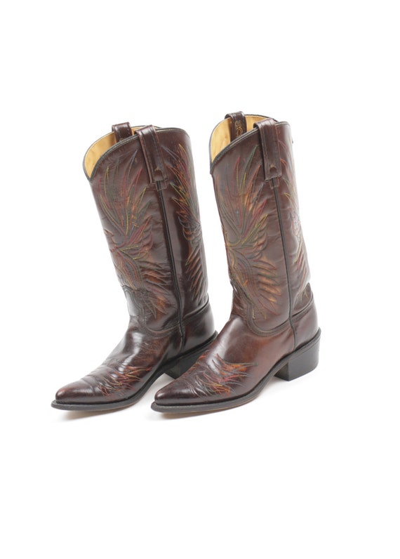 Vintage Boots Cowboy Leather Acme RESERVED For Ellie