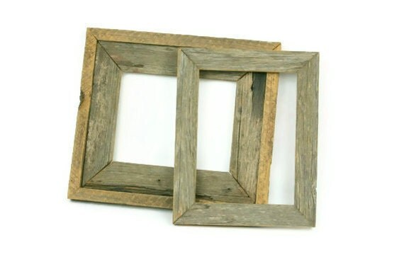 Vintage Barnwood Frames Set of Two Rustic Handmade