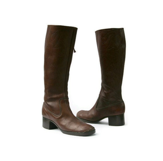 Vintage Riding Boots Leather Riding Mahogany Tall
