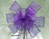 Wedding/ Pew Bows/ aisle decorations purple Glitter