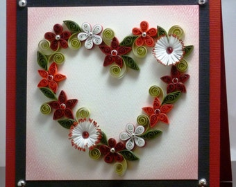 Tutorial -- Quilled Floral Heart Wreath Pattern