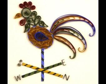 Tutorial -- Quilled Rooster Weathervane Folk Art Pattern