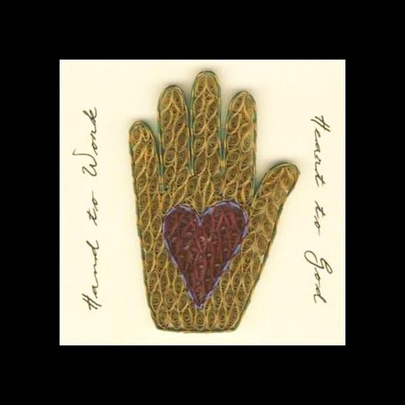 Tutorial -- Quilled Heart-In-Hand Folk Art Pattern